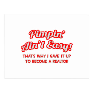 Pimpin no es fácil. Agente inmobiliario Postales
