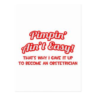 Pimpin no es fácil. Obstétrico Postales