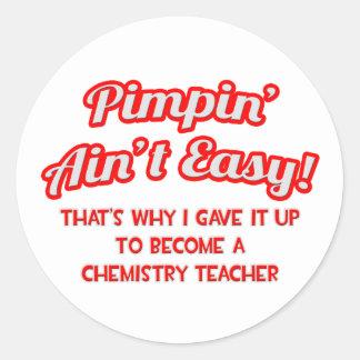Pimpin no es fácil Profesor de la química Pegatina