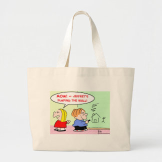 pimping the wall kids tote bags