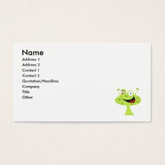Pimple Face Alien Business Card