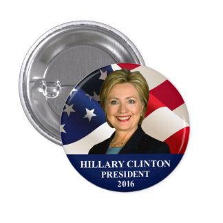 """Pin 1"""" del presidente 2016 botón de Hillary"""
