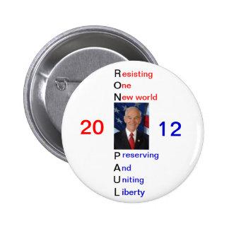Pin 2012 del partidario de Ron Paul