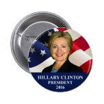 """Pin 2"""" del presidente 2016 botón de Hillary"""