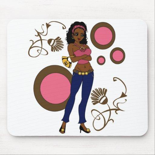 Pin africano para arriba mouse pads