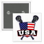 Pin americano de los E.E.U.U. LaCrosse Pin Cuadrada 5 Cm