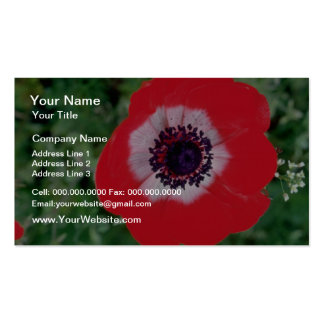 Pin Anemone flowers Business Cards