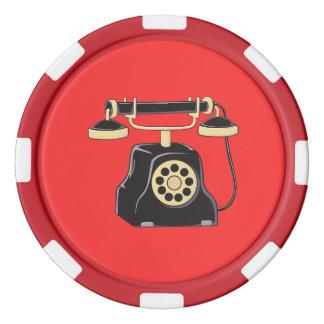 Pin antiguo de encargo del colector del teléfono fichas de póquer