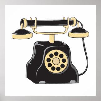 Pin antiguo de encargo del colector del teléfono impresiones