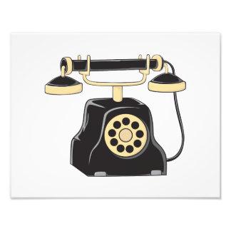 Pin antiguo de encargo del colector del teléfono impresión fotográfica