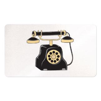 Pin antiguo de encargo del colector del teléfono tarjetas de negocios