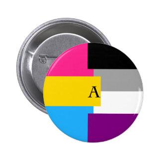 Pin asexual del as de la cacerola de Panromantic