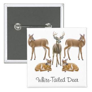 Pin atado blanco de los ciervos