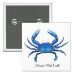 Pin atlántico del cangrejo azul