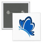 Pin azul de la mariposa