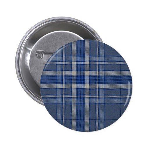 Pin azul del botón del tartán