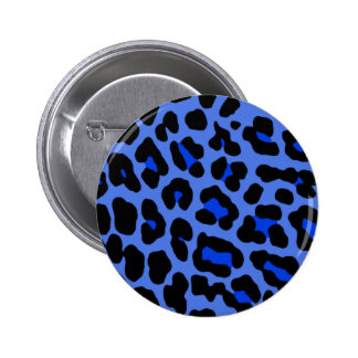 Pin azul del leopardo