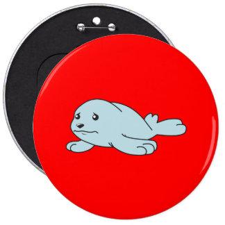 Pin azul gritador del botón de la taza de cría de