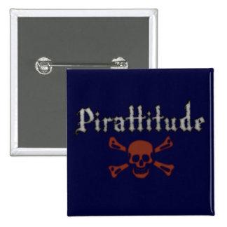 Pin azul marino de Pirattitude Pin Cuadrada 5 Cm