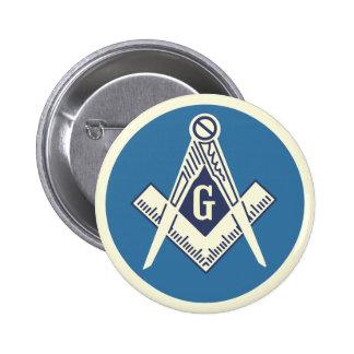 Pin azul masónico de la casa de campo