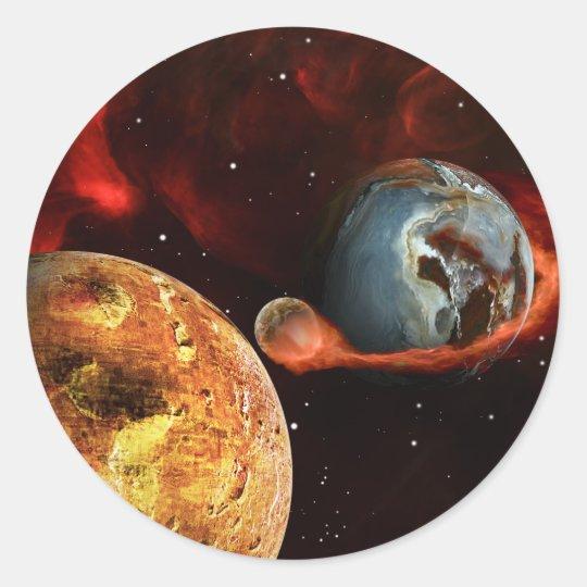 Pin-Ball Classic Round Sticker