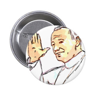 Pin bendecido de Juan Pablo II Pin Redondo 5 Cm