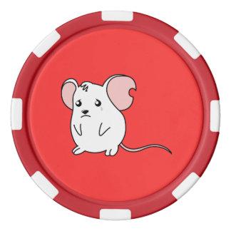 Pin blanco gritador triste del botón de la fichas de póquer