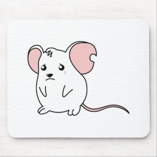 Pin blanco gritador triste del botón de la alfombrilla de ratones
