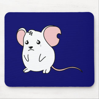 Pin blanco gritador triste del botón de la tapete de ratones