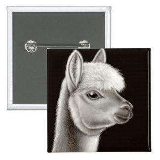 Pin borroso de la cara de la alpaca