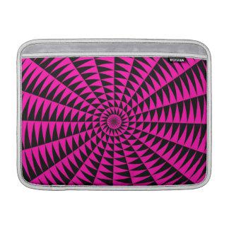 Pin brillante y diseño radial negro fundas MacBook