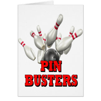 Pin Busters Bowling Card