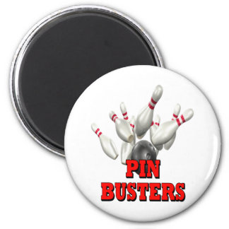 Pin Busters Bowling Fridge Magnet