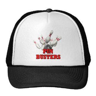 Pin Busters Bowling Trucker Hat