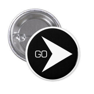 "pin button custom design ""go"""