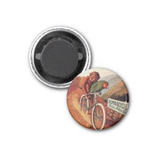 Pin chistoso de la bicicleta del loro del mono del imán redondo 3 cm