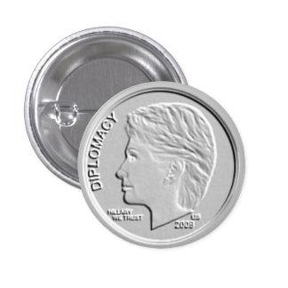 Pin circular del botón de la moneda de diez centav