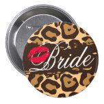 Pin clásico del botón de la novia del estampado le