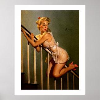 Pin clásico retro de Gil Elvgren del vintage encim Posters