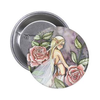 Pin color de rosa de la hada, botón por Molly