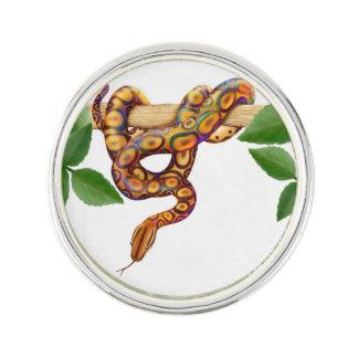 Pin colorido de la solapa de la serpiente del