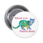 Pin colorido de los gatos del rescate