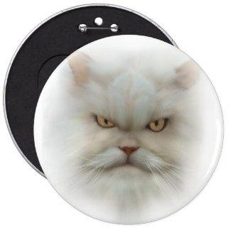 Pin COLOSAL del botón del gato persa de 6 pulgadas