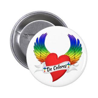 Pin con alas del botón de DeColores Palanca del co