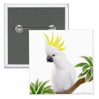 Pin con cresta del Cockatoo del azufre
