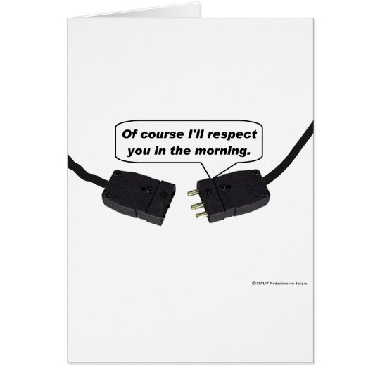 Pin Connectors - I'll Respect You In The Morning Card