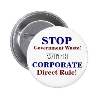 Pin corporativo del gobierno pin redondo 5 cm