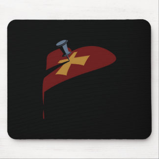 Pin Cross Heart Drip Mouse Pad