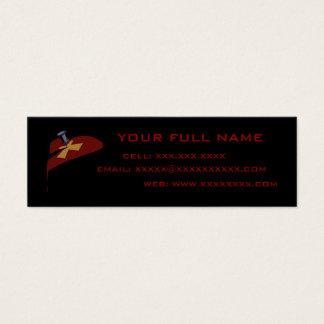 Pin Cross Heart Drip Profile Card Template