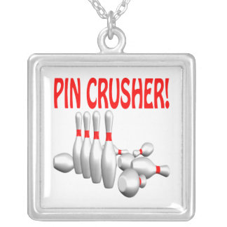 Pin Crusher Silver Plated Necklace